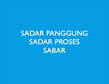 Sabar = Sadar Proses