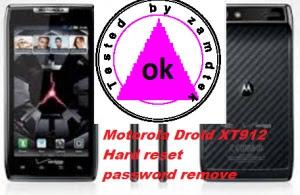 HOW TO HARD RESET MOTOROLA XT912