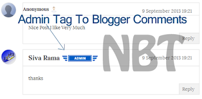 Add ADMIN Ribbon In Blogger Comments