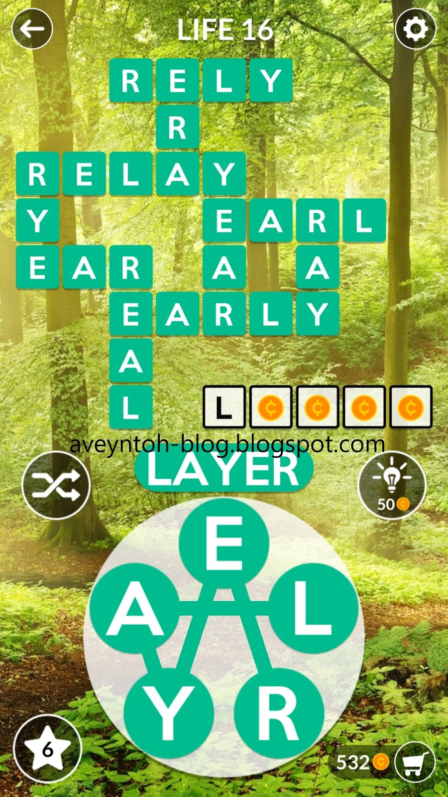 Aveyn's Blog: Wordscapes Answers - FOREST - LIFE