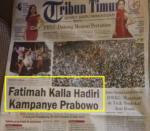 Sinyal Kemenangan dari Timur: Fatimah Kalla Hadiri Kampanye Prabowo