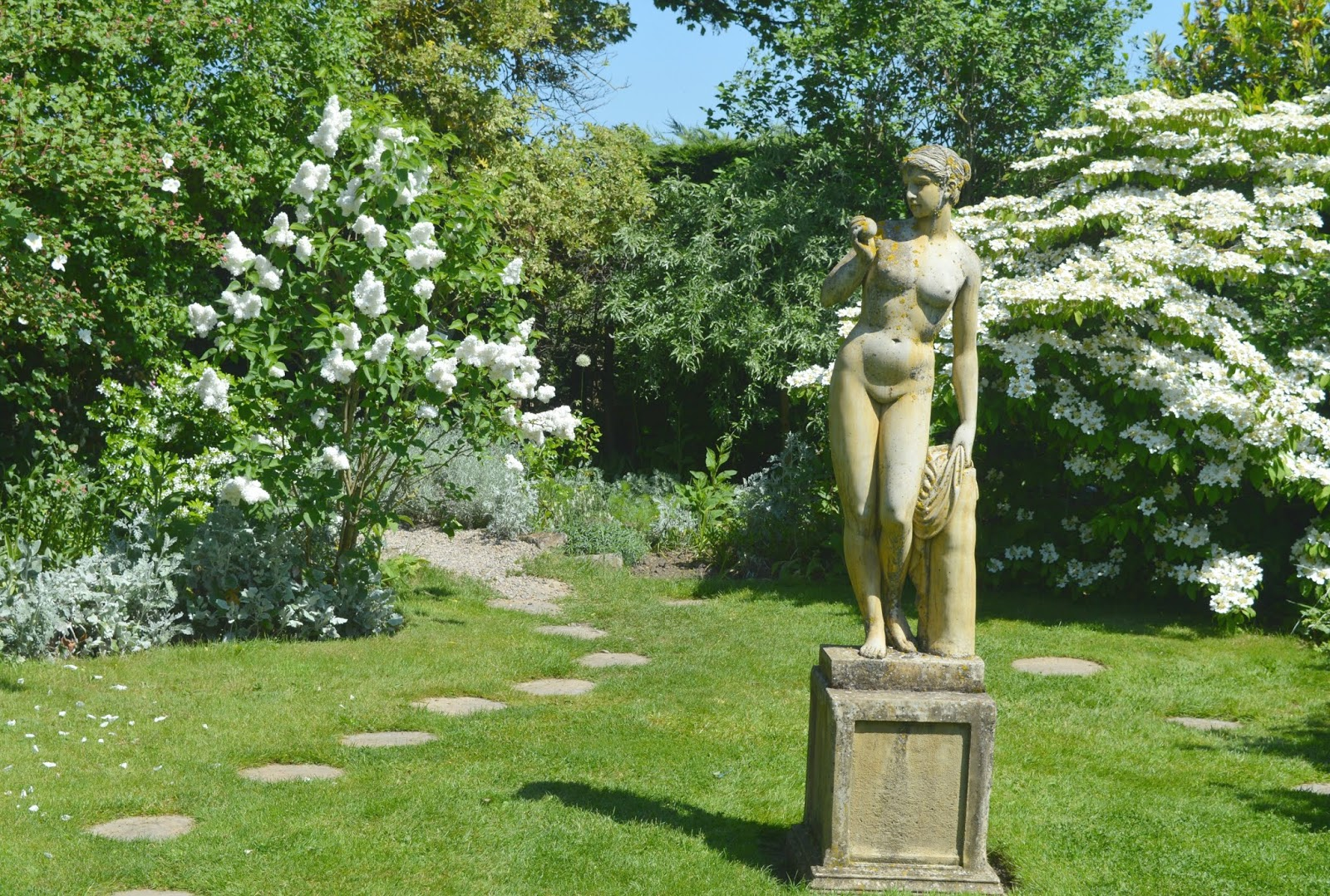 Crook Hall and Gardens, Durham - Silver and White Garden