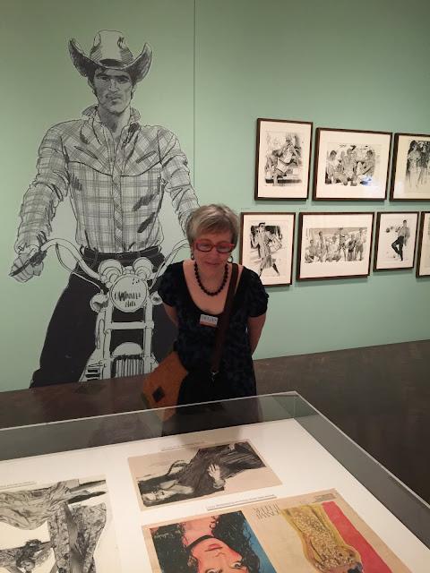 Valerie Keller views newspaper and magazine fashion illustration