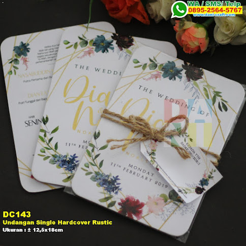 Undangan Single Hardcover Rustic