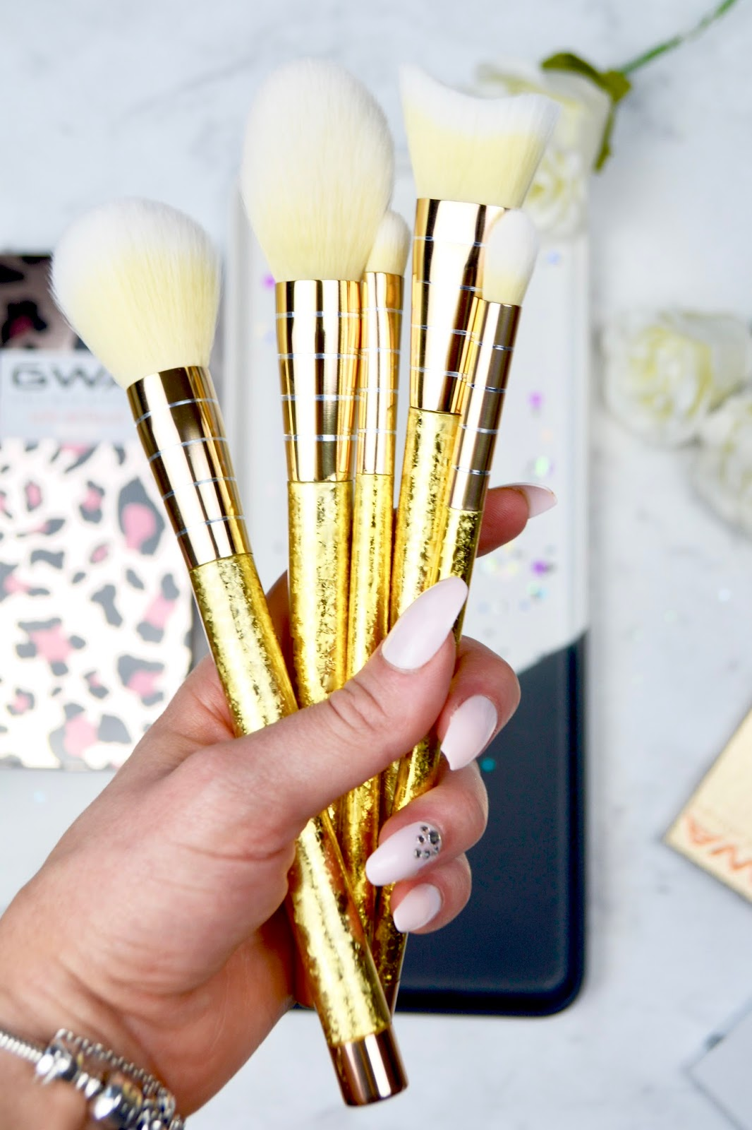 Girls With Attitude Luxe Metallics Makeup Brush Set