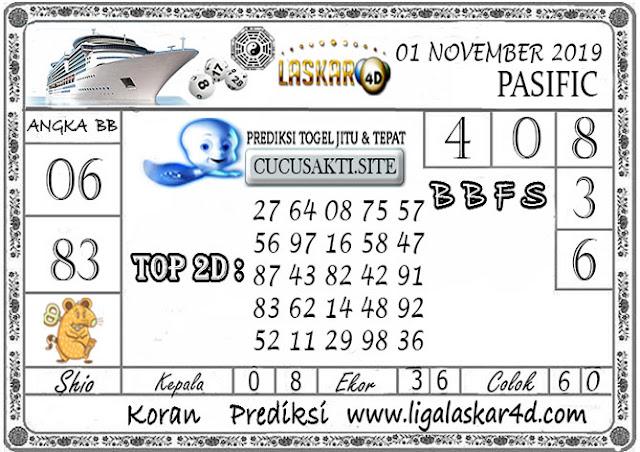 Prediksi Togel Jitu PASIFIC LASKAR4D 01 NOVEMBER 2019