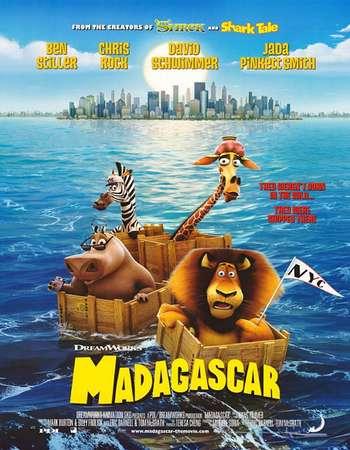 Poster Of Madagascar 2005 Dual Audio 120MB BRRip HEVC Mobile ESubs Free Download Watch Online Worldfree4u