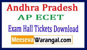 Andhra Pradesh AP ECET Exam Hall Tickets Download 2017