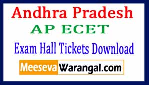 Andhra Pradesh AP ECET Exam Hall Tickets Download 2018