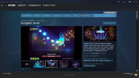 Dungeon Souls In STEAM