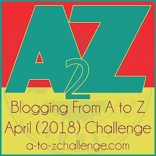 #AtoZchallenge 2018 logo 2