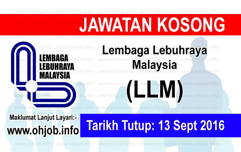 Jawatan Kerja Kosong Lembaga Lebuhraya Malaysia (LLM) logo www.ohjob.info september 2016