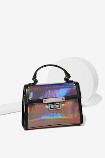 Nila Anthony Hologram At Me Bag - Gunmetal