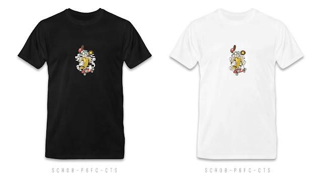 SCR08-P6FC-CTS Cartoon T Shirt Design, Custom T Shirt Printing