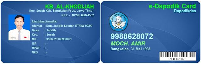 Aplikasi E-Dapodikmas dan E-Dapodikdas Card