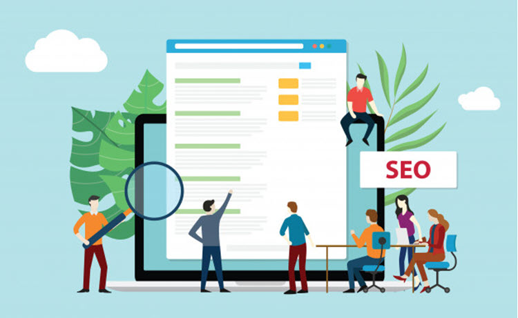 Seo Search Engine Optimization Premium Vector