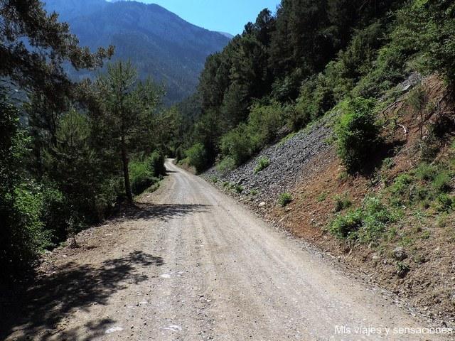 Pista de acceso al ibón de Plan desde Saravillo
