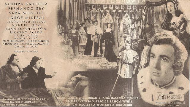 Programa de Cine - Locura de Amor (Doble) - Aurora Bautista - Fernando Rey - Sara Montiel