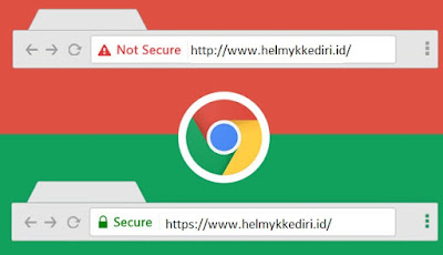 chrome permalukan website non HTTPS