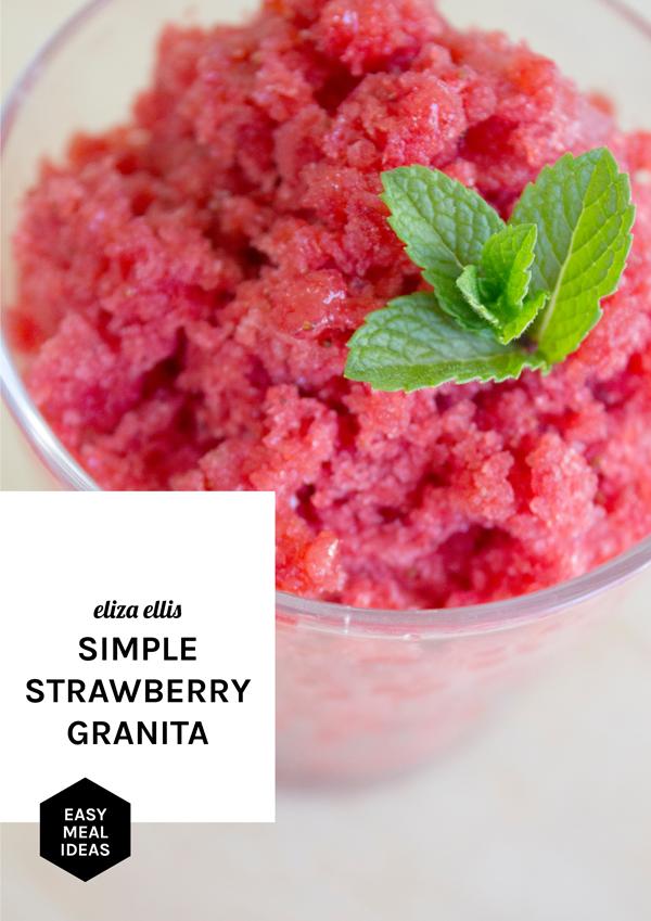 Strawberry Granita - Flavor Ideas by Eliza Ellis