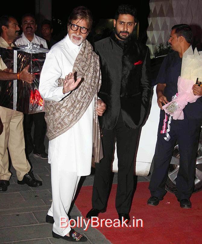 Abhishek Bachchan, Amitabh, Tulsi Kumar Wedding Reception Photo Gallery 2015