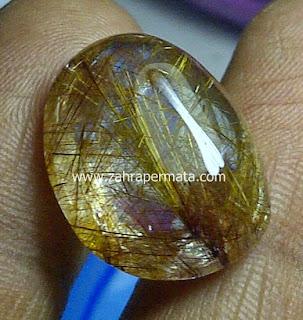 Batu Permata Kecubung Rambut Emas - ZP 455