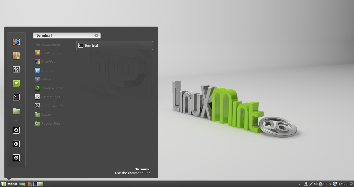 Linux Mint - Open The Terminal