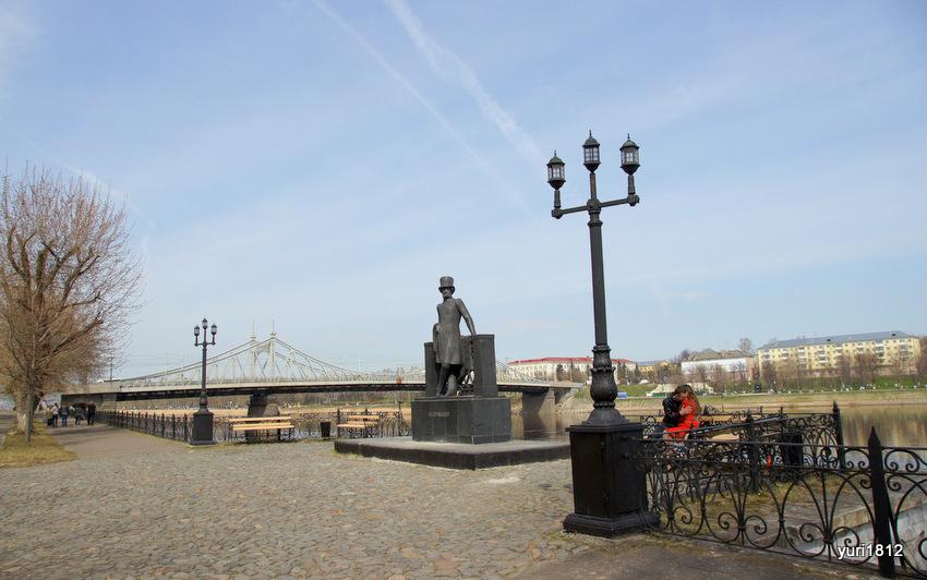 Тверь, памятник А. С. Пушкину в Городском саду