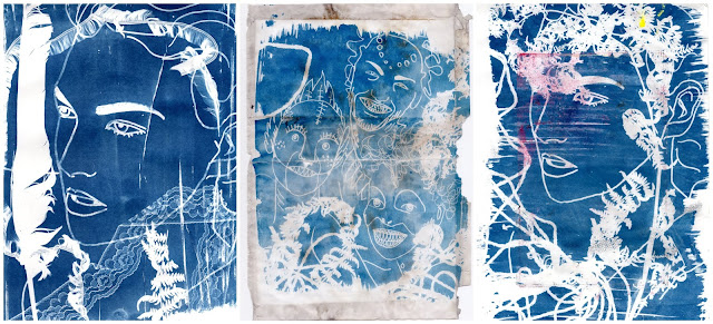 Whoopidooings: Carmen Wing - Experiments with Cyanotype