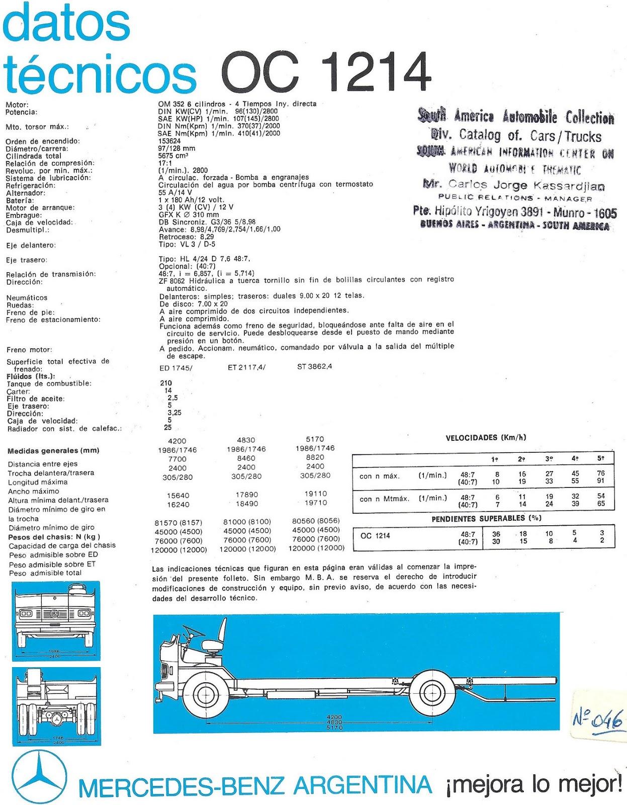 Cami n argentino mercedes benz oc 1214 for Mercedes benz oc