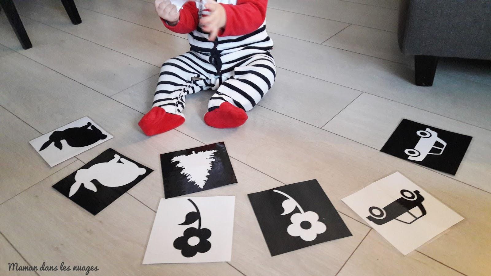 Maman Dans Les Nuages Images Contrastees En Noir Et Blanc