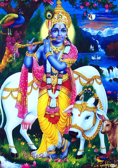 Krishna Images with Cow