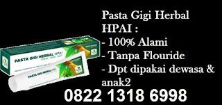 Komposisi manfaat pasta gigi herbal hpai halal sunah nabi terbaik