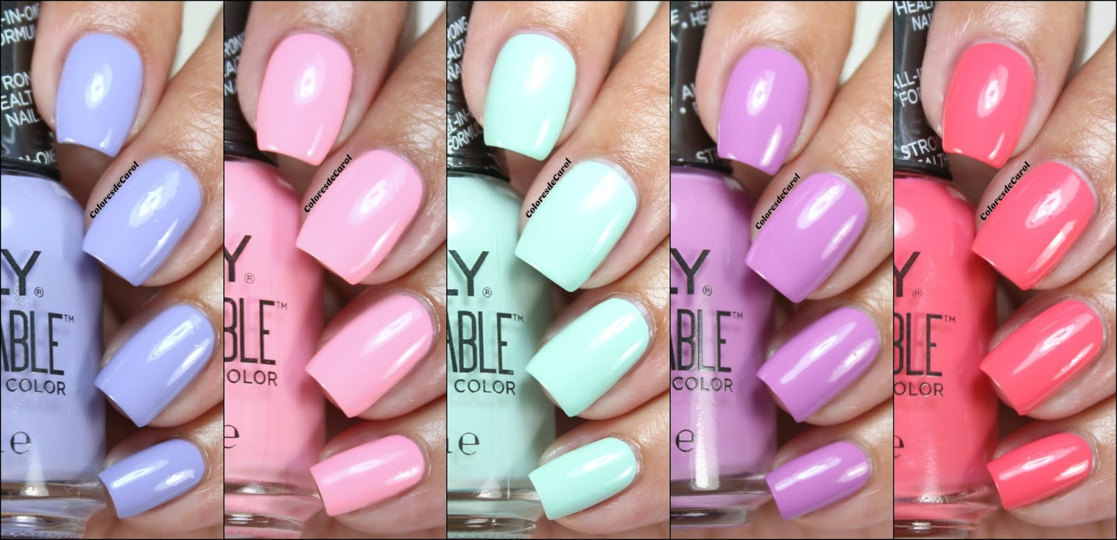 I Have Five Shades To Show You Lied Two Coats Of Each Color Directly On My Nails Didn T Use A Base Or Top Coat All These Easily