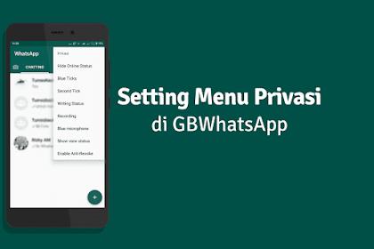 Cara Menggunakan GBWhatsapp Pada Menu Privasi