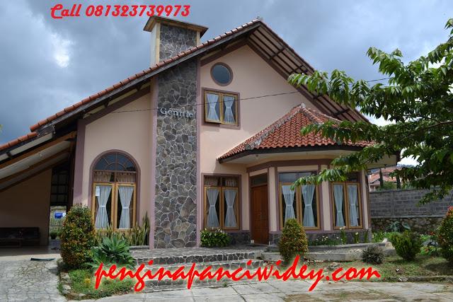 Booking villa di area wisata kawah putih dari rembang