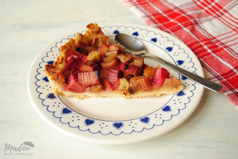 Alzackie smaczki - najprostsza tarta z rabarbarem