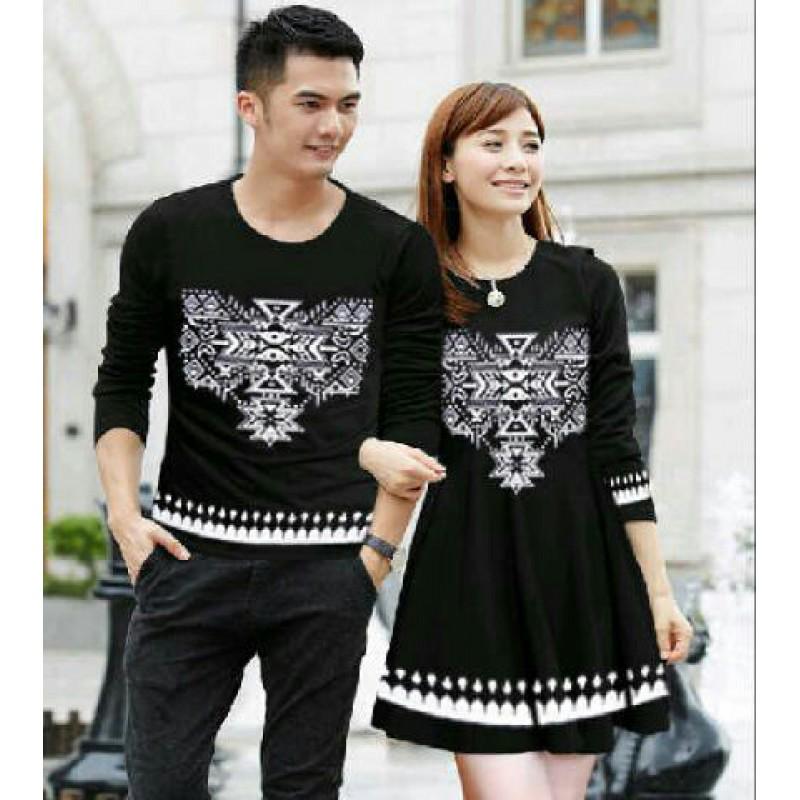 Jual Dress Couple Snow Black - 24242