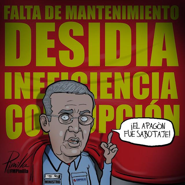 Pinilla y la caricatura del Ministro Motta Dominguez