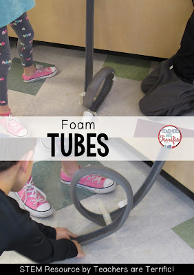 STEM Challenge: Create a foam tube roller coaster with loops and curves! Check this blog post!