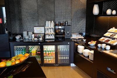 Hilton Tallinn Park, self-service bar at Executive Lounge