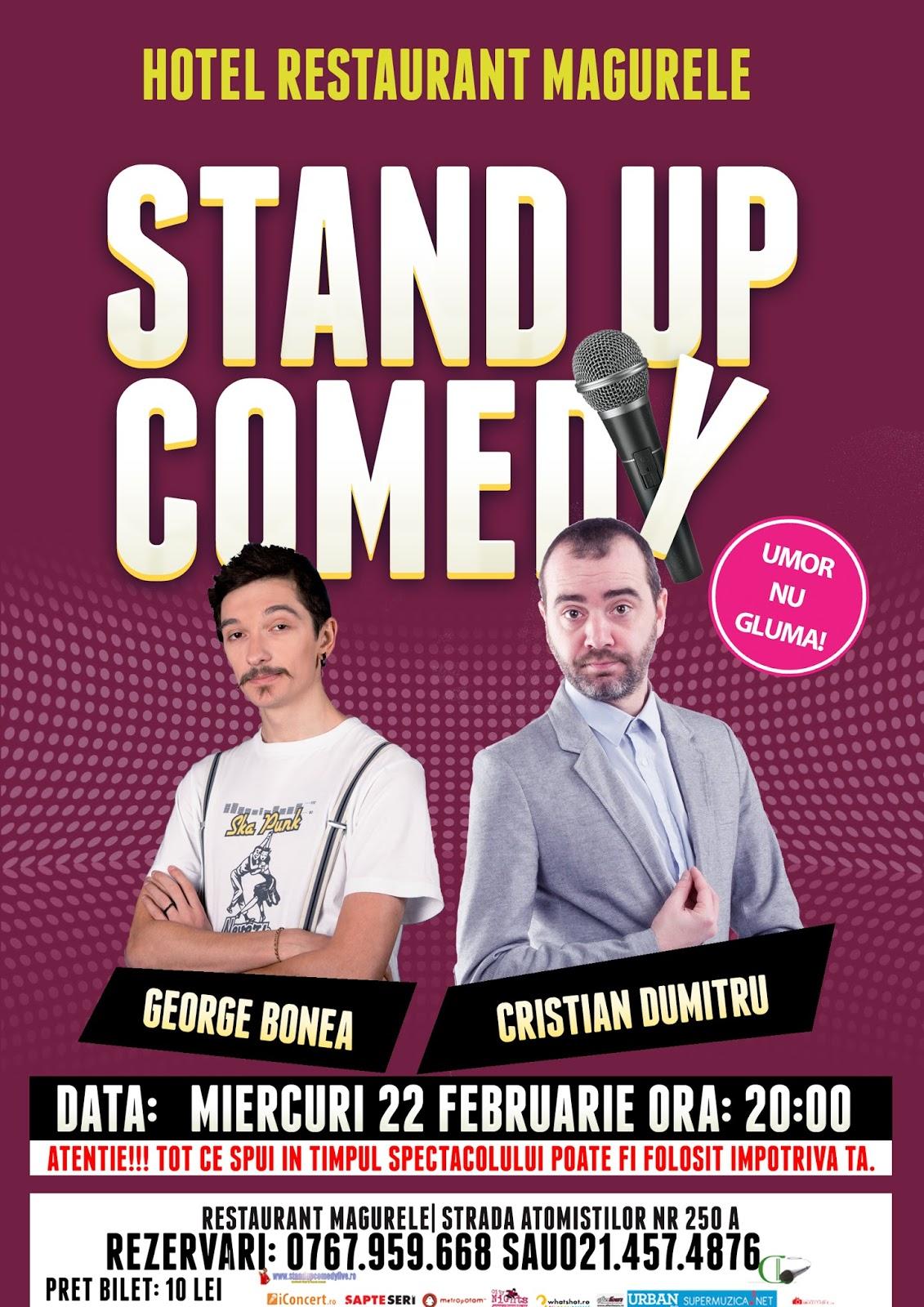 Stand-Up Comedy Miercuri Magurele 22 februarie