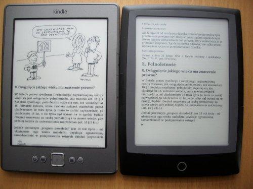 Działanie trybu reflow w Cybook Odyssey Frontlight HD w porównaniu z Kindle Classic (kownersja pliku pdf po wysyłce przez mejla)