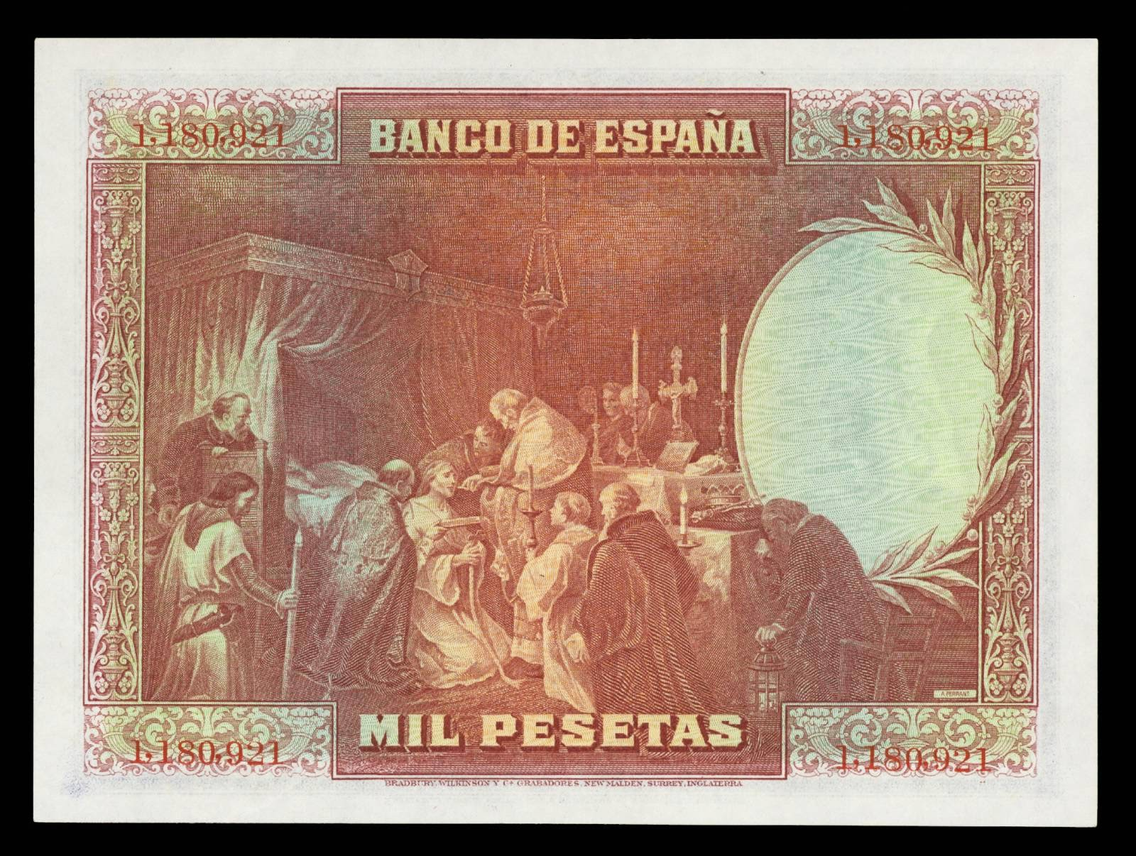 Spain currency 1000 Pesetas banknote 1928