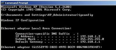 how to change modem ip address windows 7