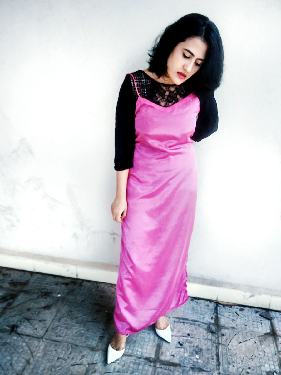 how to make a slip dress,diyslipdress, blacktshirt,dheerajoshi