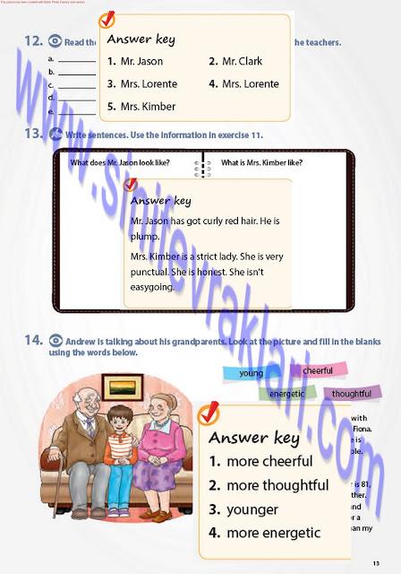 7. Sınıf İngilizce Pantera Yayınları Ders Kitabı Cevapları Sayfa 13