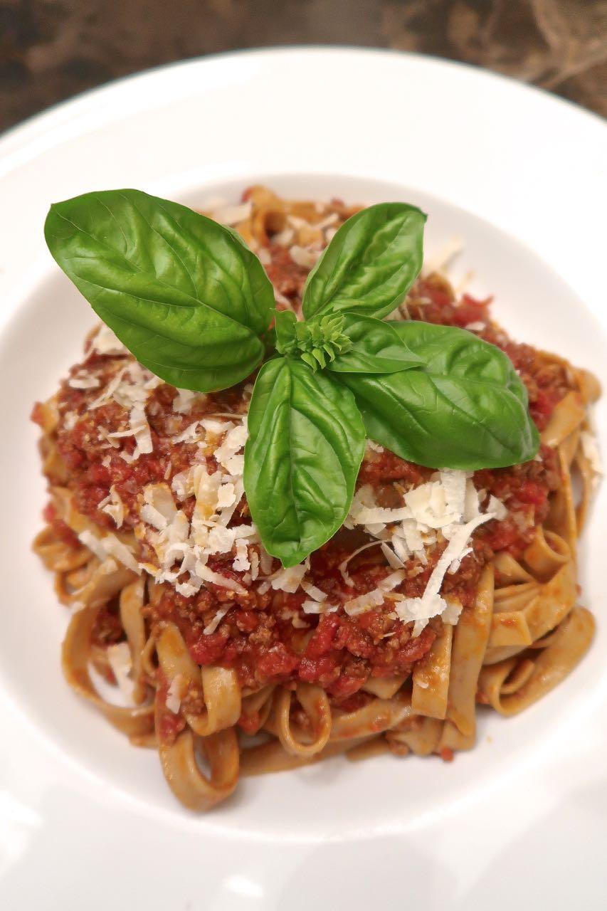Scrumpdillyicious Spaghetti Bolognese With Tagliatelle Funghi Porcini