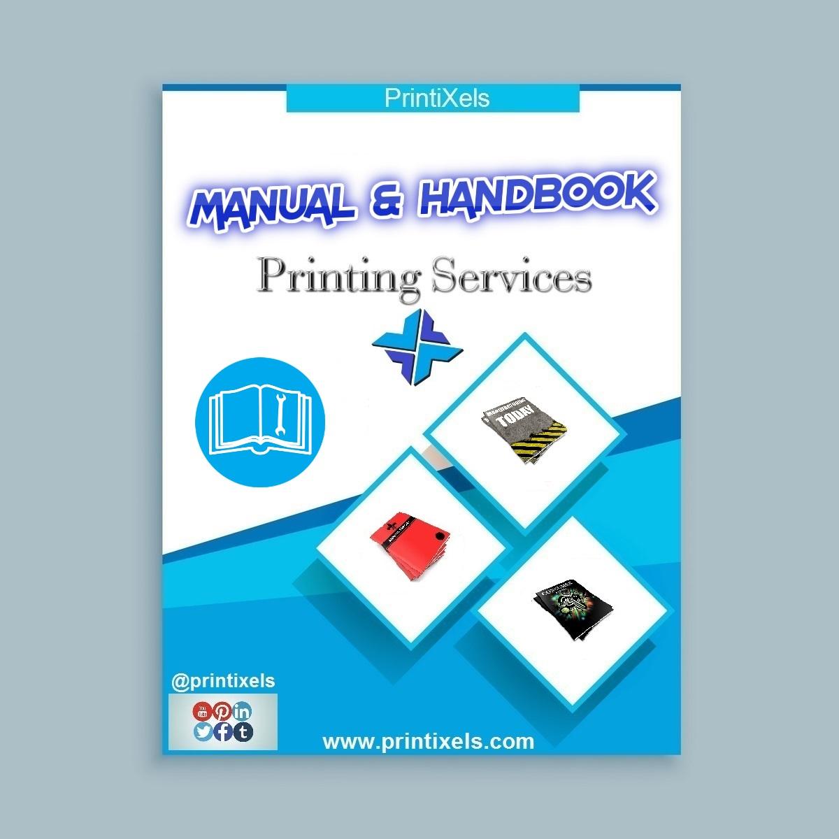 Manual handbook printing services printixels philippines