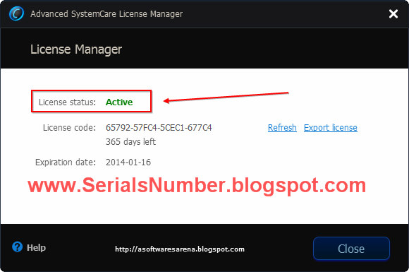 Advanced system care 5 serial key